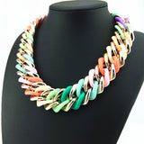 New Women Accessories Necklaces & Pendants Colorful Resin Bib Choker Statement Necklace Elegant Fashion Jewelry Necklace