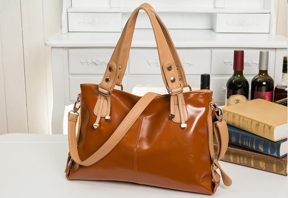 New Women Messenger Bags Fashion Genuine Leather Handbag Portable Shoulder Bag Crossbody Bolsas Women Leather Handbag Tote
