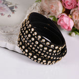 New Women's Black Fashion Leather Bracelets For women Christmas Gifts