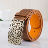 New arrival Top quality PU leather women belt fashion brand metal buckle designer belts for women