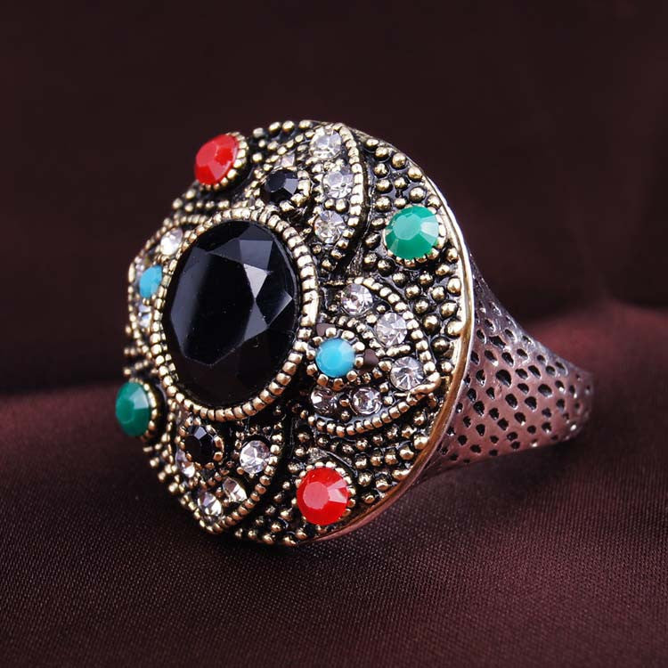 Fashion Jewelry Round Shaped Silver Bohemian Rings Buycoolprice