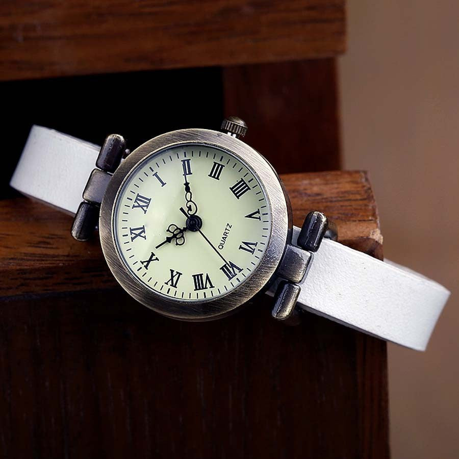 Fashion hot-selling Genuine leather female watch ROMA vintage watch women dress watches
