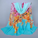 New fashion style designer chiffon silk scarves women headband sunscreen spring autumn accessories kerchief