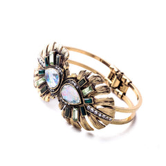 OL Style Favorite Mixed Charm Zinc Alloy Dazzling Cuff Bracelets & Bangles