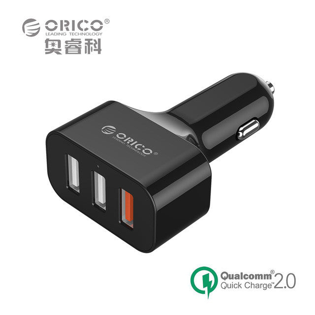 Quick Charge 2.0 Universal USB Fast Car Charger Adapter 35W For Mobile Phones iPhone Samsung Tablet PC 12V/24V