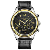 Original GUANQIN Men's Quartz Watches Men Top Brand Luxury Wristwatches Waterproof Classic Leather Strap Watch Hours Clock