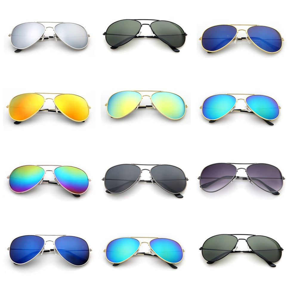 Polarized Sunglasses Aviator Summer Accessories UV400 Protection Glasses Oculos De Sol Gold Frame Gradient Tea Color Lens