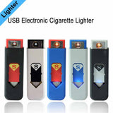 Portable Rechargeable USB Electronic Cigarette Lighters, Tobacco Cigar Flameless Windproof Lighter No Gas