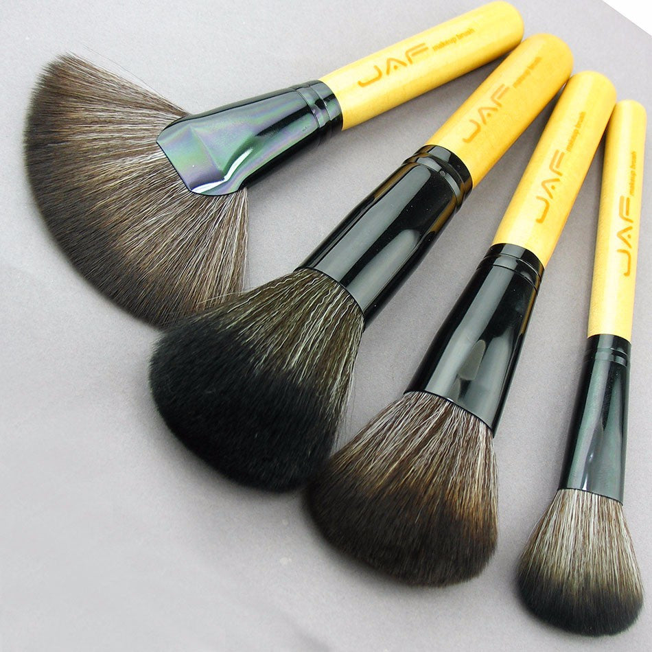 Professional Makeup Brush Set Make Up Brushes Cosmetic Buycoolprice 36 Pcs Facial Wood Tools Kit With Black Leather Case For