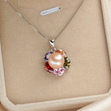 High quality 925 sterling silver pendant necklace 100% real freshwater pearl jewelry for women