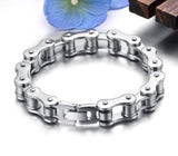 Punk 316L Stainless Steel Bracelet Men Biker Bicycle Motorcycle Chain Men's Bracelets Mens Bracelets & Bangles Fashion Jewelry