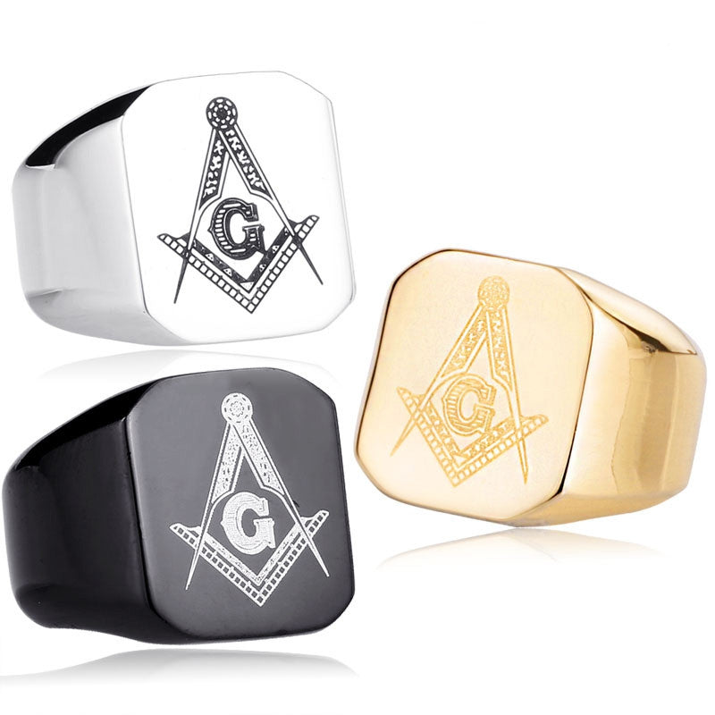 Punk 316L Stainless Steel Masonic Ring for Men master masonic signet ring free mason ring jewelry