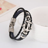 Punk Men Bracelet European and American Jewelry Steel Bracelet boat anchor bracelets & bangles For Men Jewelry