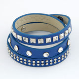 Punk Rock Multilayer PU Leather Bracelets & Bangles for Women Men Jewelry Fashion Wristband Charm Bracelet Pulseras