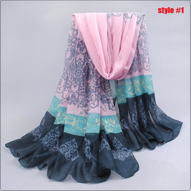 New Special Print Adult Offer Silk Thin Long Design Cotton Scarf Women's Autumn And Winter Bali Yarn Oversized Beach Towel