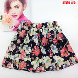 New Korean Woman Chiffon skirt Pleated Girls Skirts Short Skirts Women saias femininas skirt