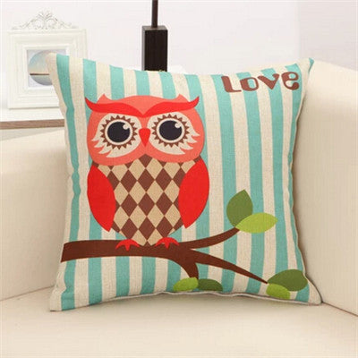 Lovely Owls Cushion Without Inner Polyester Home Decor Sofa Car Seat Decorative Throw Pillow Hot Sale Housse