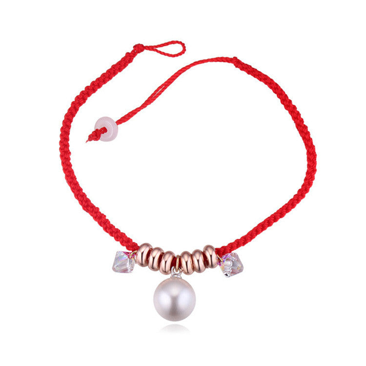 Real Austrian Crystal jewelry thin red thread string rope Charm Bracelets for women Fashion New sale Top Hot summer style