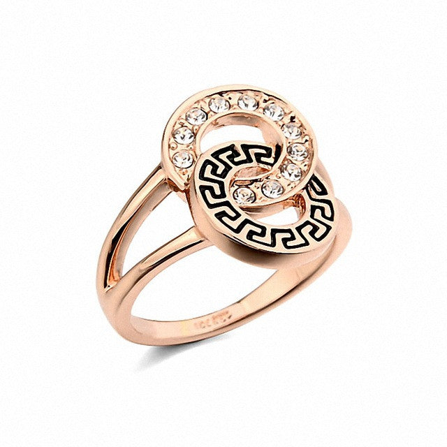 Real Italina Rings for women Genuine Austrian Crystals Gold Plated Fashion ring for men New Sale wedding rings