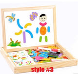 Wood magnetic oppssed child educational toys