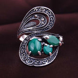 Retro Ring Fashion Classical Ancient Roman Bohemian Style Statement Exaggerated Wedding Rings For Women