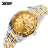 SKMEI Men Quartz Watch Mens Brand Stainless Steel Strap Analog Date Men's Casual Watches Male Wristwatches