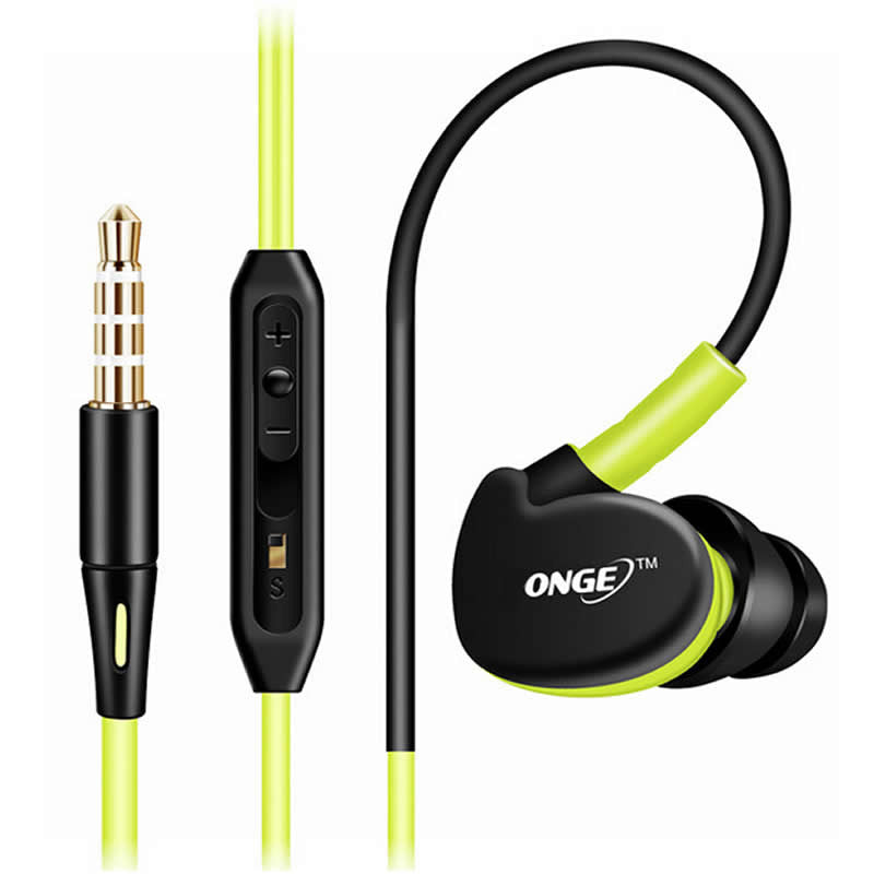 SPORTS Earphones Headphones High Quality Stereo Bass Headset With MIC 3.5mm Jack Universal Use For Iphone Samsung Android Phones