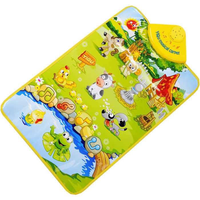 Scolour Kids Baby Farm Animal Musical Touch Play Singing Gym Carpet Mat Toy Gift