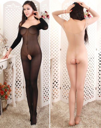 Sex Products Bodystocking Bodysuits Sexy Lingerie Lace Sheer Opaque Fishnet One Size