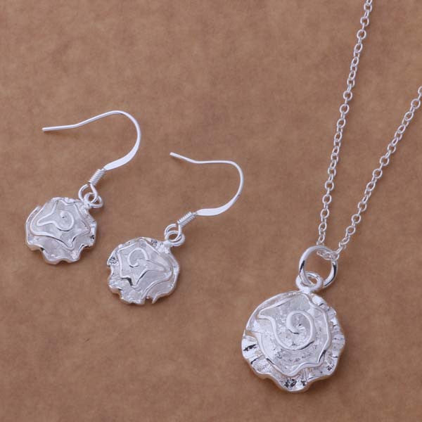 Silver plated Jewelry Sets Earring 288 + Necklace