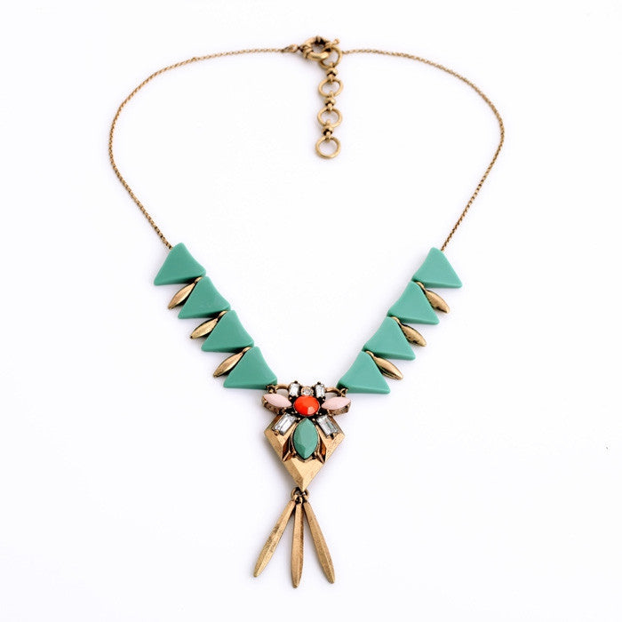 Simple Resin Triangle Antique Gold Pendants Fashion | Buycoolprice