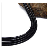 Simple black braided flax wax rope necklace Korean men's fashion men's necklace