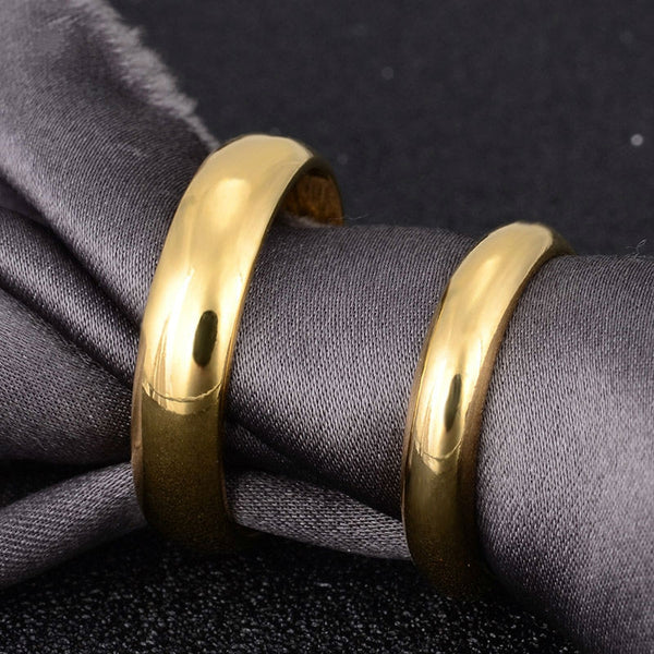 438d836e348 Simple Engagement Wedding Couple Rings Lovers Ring