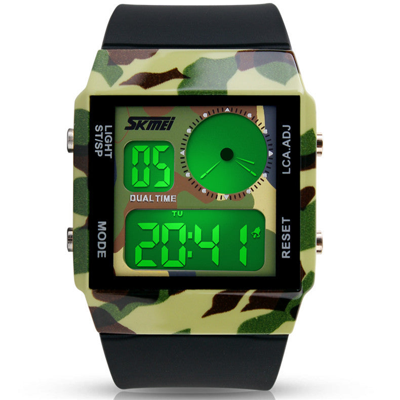 Skmei Fashion Casual Watches Relogio Seven colourful Military Sports Style Led Digital Watch Men Women Multifunction Wristwatch