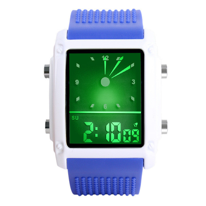 Skmei Fashion Men Sports Watches Dual Time Digital Quartz 30m Waterproof LED Colorful backlight Casual Dress Wrist watch