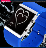 Skmei Ladies Digital Watch Fashion Casual Watches Relogio Masculino Blue LED Silicone Jelly Wristwatches Women Dress Watches
