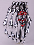 Skull skeleton hand bone bracelet bangle biker gothic halloween jewelry gifts for women