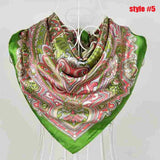 New Arrival Brand Design Satin Big Square Scarf Printed,Women Silk Scarf,China Style Handkerchief