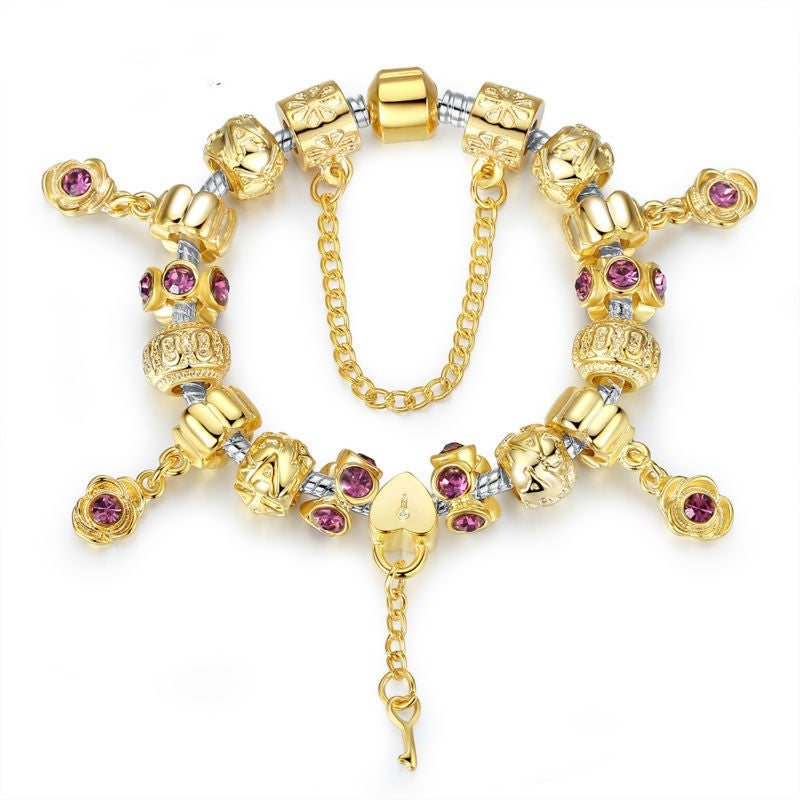 Snake Charm Bracelets With Gold Plated Charm for Women High Quality Christmas Gift Jewelry