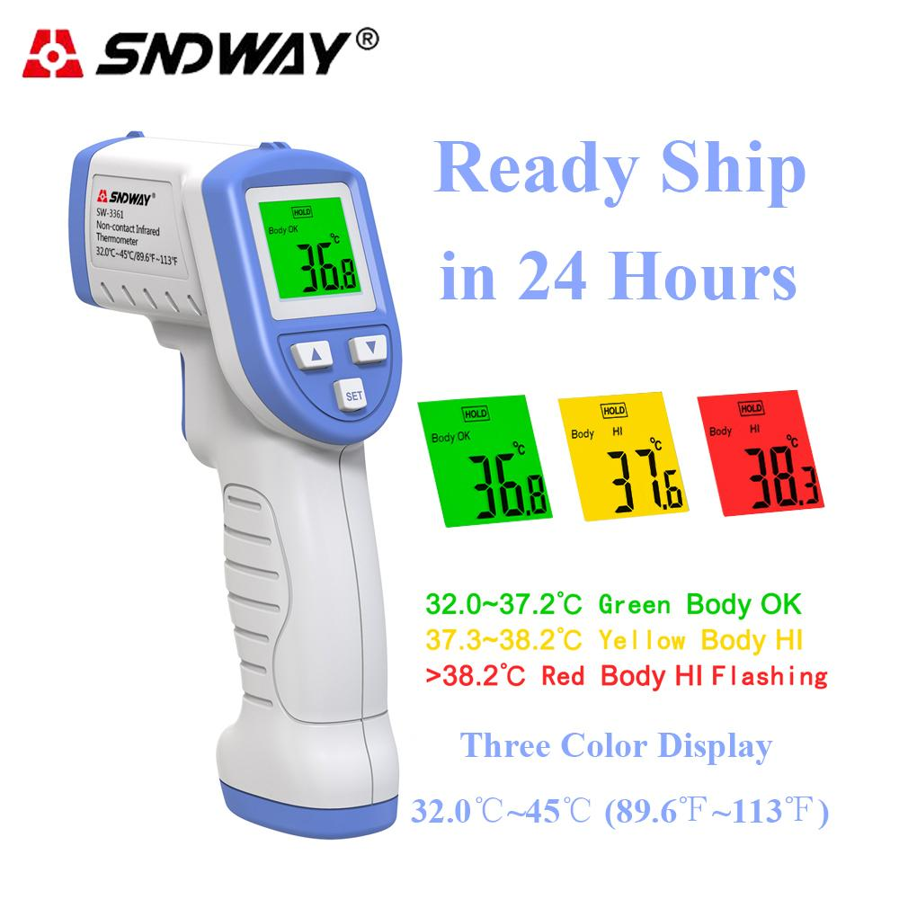 Sndway Digital Infrared Thermometer Temperature meter Non-contact Baby Forehead Thermometer Temperature Gun Adult Termometro