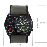 Sports Watch OULM quartz watch Multiple Thermometer Compass cycling leather strap wristwatches military watches