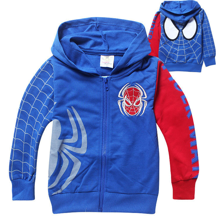 Spring Autumn Children's Coat boys Spiderman embroidered hoodie jackets Kids cartoon Clothes baby outerwear