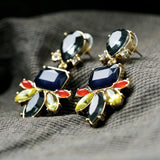 Statement Fashion Women Jewelry Elegant Resin Plant Stud Earrings