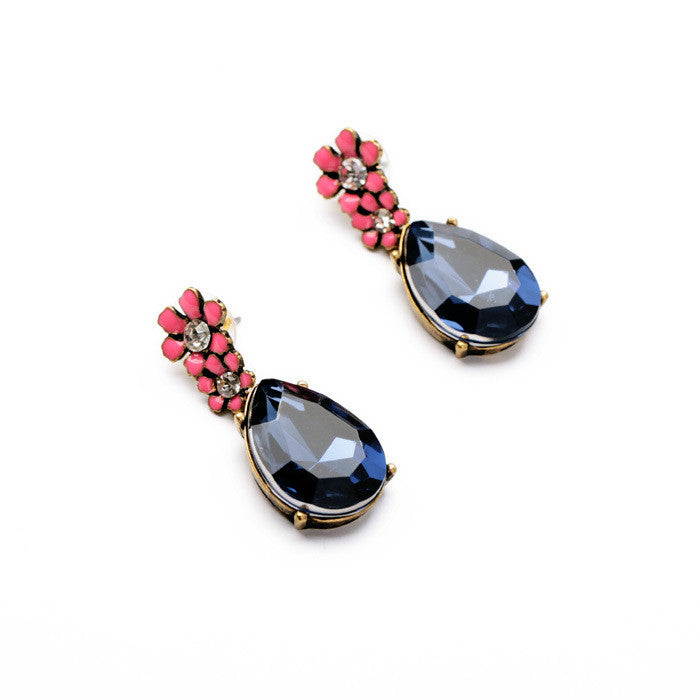 Statement Jewelry Fashion Classic Blue Resin Water Drop Earrings