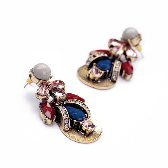 Statement Trendy Jewelry Trendy Resin Vintage Plant Drop Earrings