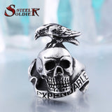 Steel soldier New Arrival! Stainless Steel the Expendables Ring For Men Wholesale Exclusive Sale Men's Jewelry