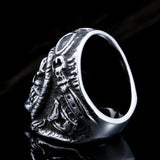 Steel soldier new style stainless steel skull astronaut ring for men unique vintage jewelry for men