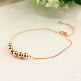 String Together The Happiness 18K Rose/WhiteGold Plated Link Chain Charm Bracelet Jewelry Top Quality