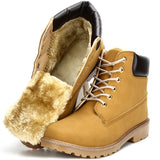 Suede leather man boot Winter men boots ankle shoes warm snow velvet fur work martin cowboy motorcycle male shoe lace-up