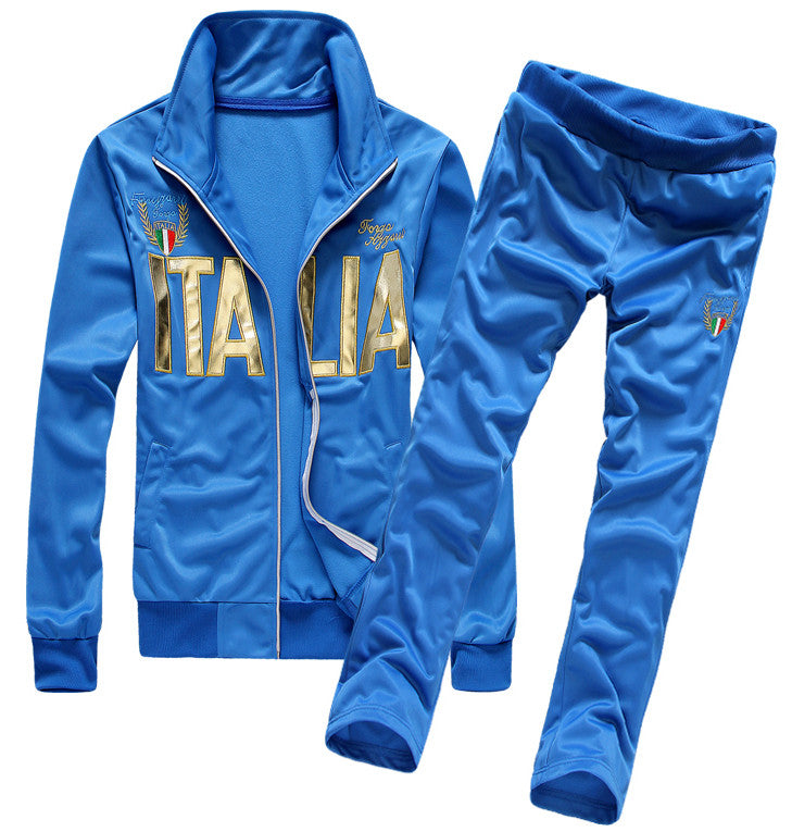 Summer Sport Suit Sportwear New Men Fashion Letter Print Tracksuits College Couple Jacket Set